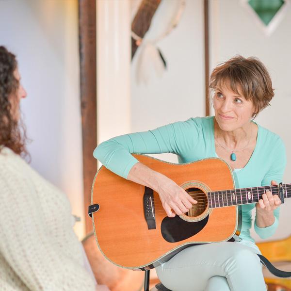 Esther Gleede bei der musikalischen Einzelbegleitung